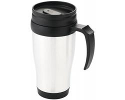 Plastový termohrnek GROOM CREEK, 330 ml - bílá / černá