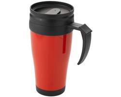 Plastový termohrnek GROOM CREEK, 330 ml - červená / černá