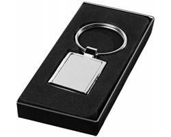 Obdélníkový kovový přívěsek na klíče BATT - stříbrná