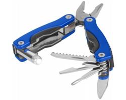 Hliníkový multifunkční nástroj LOONY v nylonovém pouzdře na opasek - modrá