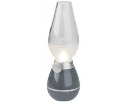 Plastová lucerna DAMPERS s funkcí stmívání - metalická