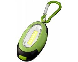Plastová LED svítilna BRIO s magnetem a karabinou - jemně zelená / černá
