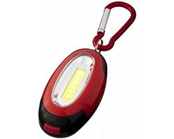 Plastová LED svítilna BRIO s magnetem a karabinou - červená / černá