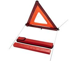 Skládací výstražný trojúhelník PEDES v nylonové pouzdře - červená