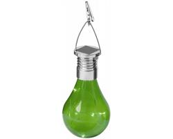 Plastová solární LED svítilna SLUSH tvaru žárovky - zelená