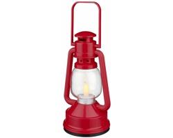 Plastová LED lucerna TERRACE - červená