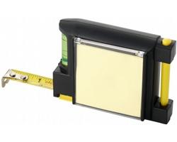 Svinovací metr LOCOS s vodováhou, délka 2 m - černá / žlutá