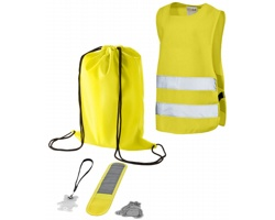 Dětská bezpečnostní sada ENDED, 5 dílů - žlutá