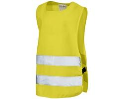 Dětská polyesterová bezpečnostní vesta CIRE - žlutá
