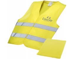 Profesionální bezpečnostní vesta CANDLE s reflexními prvky - žlutá