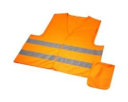 Profesionální bezpečnostní vesta CANDLE s reflexními prvky - neonově oranžová