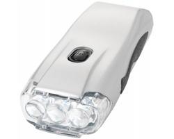 Nouzová LED svítilna s dynamem USAF - stříbrná