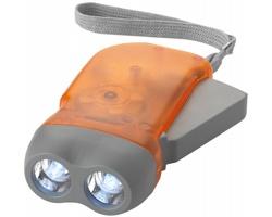 LED svítilna s dynamem GLOBE - oranžová