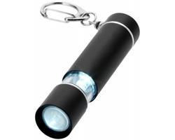 Hliníková LED svítilna na klíče PIPS s dvojím svícením - černá