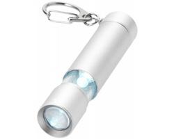 Hliníková LED svítilna na klíče PIPS s dvojím svícením - stříbrná