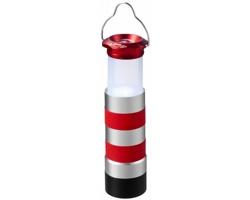 Hliníková svítilna EXCUSES ve stylu maják - červená / stříbrná