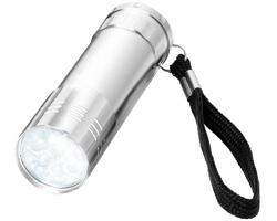 LED svítilna GORY s poutkem - stříbrná