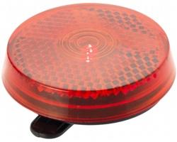 Bezpečnostní odrazka a blikačka RUBES - červená