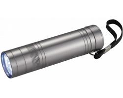 Kovová LED blikačka s otvírákem lahví TOXIN - stříbrná