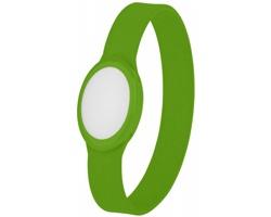 Silikonový LED náramek DARKNES - jemně zelená