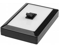 Plastové LED světlo FUGA v designu vypínače - černá