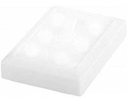 Plastové LED světlo FUGA v designu vypínače - bílá
