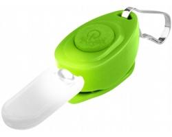 Plastový svítící přívěsek na klíče PELICANO - jemně zelená