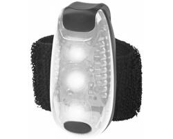 Bezpečnostní LED světlo QUER s páskem na suchý zip - bílá / černá