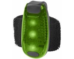 Bezpečnostní LED světlo QUER s páskem na suchý zip - zelená / černá