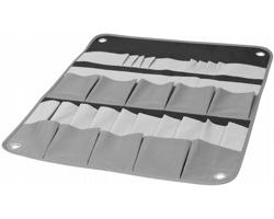 Polyesterový závěsný organizér nářadí BARITO - černá / šedá / světle šedá