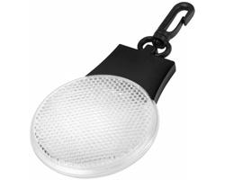 Plastová odrazka a svítilna ASPIC se třemi režimy světla, včetně háčku na zavěšení - bílá