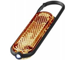Reflexní karabinka na klíče SAINT s LED světlem - oranžová