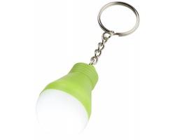 Plastové LED světlo SINTON tvaru žárovky - jemně zelená