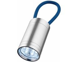 Hliníková LED svítilna MEN se svítícím poutkem - královská modrá