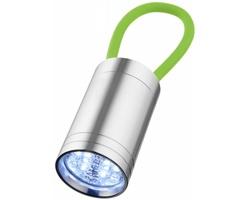 Hliníková LED svítilna MEN se svítícím poutkem - jemně zelená