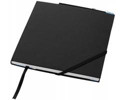 Čtvercový zápisník Marksman DELTA s imitací kůže - černá