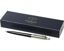 Plastové kuličkové pero Parker JOTTER BALLPOINT PEN s kovovými detaily v dárkové kazetě - černá / stříbrná