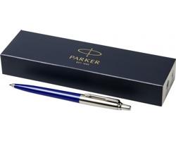Plastové kuličkové pero Parker JOTTER BALLPOINT PEN s kovovými detaily v dárkové kazetě - modrá / stříbrná