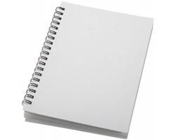 Plastový kroužkový zápisník BORNE s linkovanými listy, formát A6 - bílá