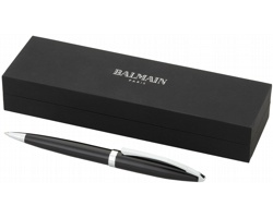 Kovové kuličkové pero Balmain AIEL se švýcarskou náplní - černá