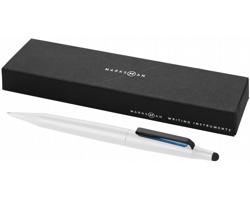 Kovové kuličkové pero a stylus Marksman TRIGON STYLUS - bílá