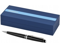 Dřevěné lakované pero Waterman EXPERT BALLPOINT PEN v dárkové kazetě - černá / stříbrná