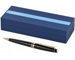 Nerezové kuličkové pero Waterman EXPERT BALLPOINT PEN v dárkové kazetě - černá / zlatá