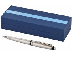 Dřevěné lakované pero Waterman EXPERT BALLPOINT PEN v dárkové kazetě - ocelově šedá / zlatá