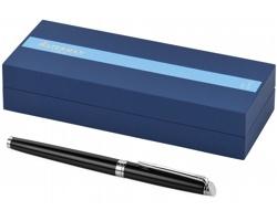 Elegantní kuličkové pero Waterman HÉMISPHERE ROLLERBALL z nerezové oceli v dárkové kazetě - černá