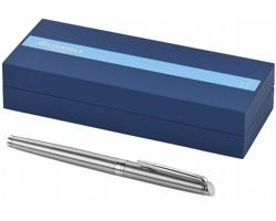 Ocelové kuličkové pero se zlatými detaily Waterman HÉMISPHERE ROLLERBALL PEN - stříbrná