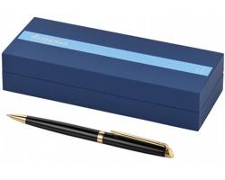 Značkové lakované kuličkové pero Waterman HÉMISPHERE BALLPOINT PEN s klipem - černá / zlatá