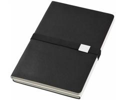 Zápisník 2 v 1 Journalbooks DOPPIO, formát A5 - černá / bílá