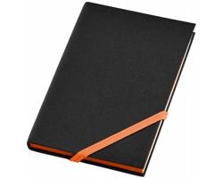 Příruční zápisník FROST v měkkých deskách, formát A6 - černá / oranžová