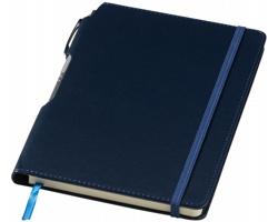 Zápisník WAYNESBORO se stříbrným perem, formát A5 - námořní modrá
